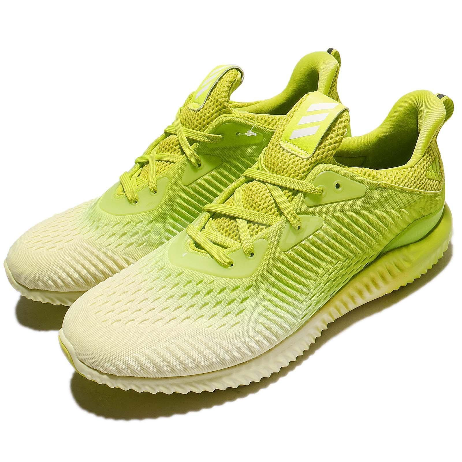Adidas Alphabounce Em M Ice Yellow Volt Men Running Shoes Sneaker
