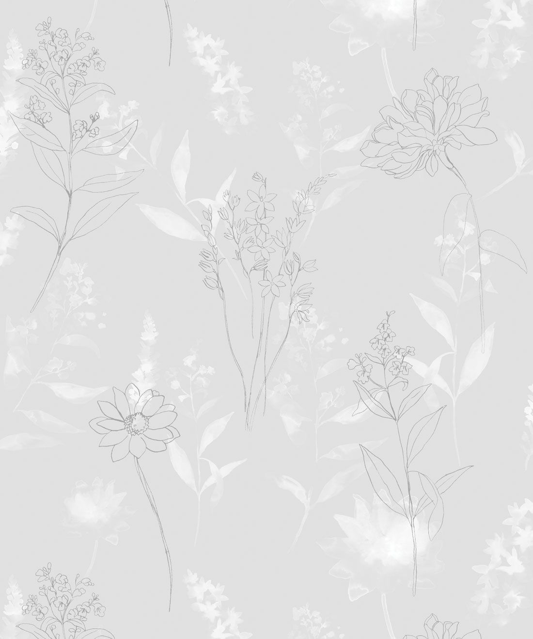 Dalrymple Wallpaper In 2020 Grey Floral Wallpaper Neutral