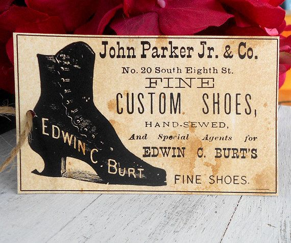 Coffee Stained Vintage Shoe Advertisement Womans by laughngypsy
