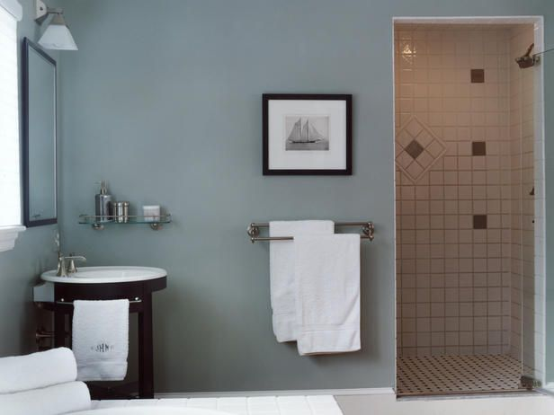 COOL COLORS IN TRADITIONAL BATH Bathroom Pinterest Traditional