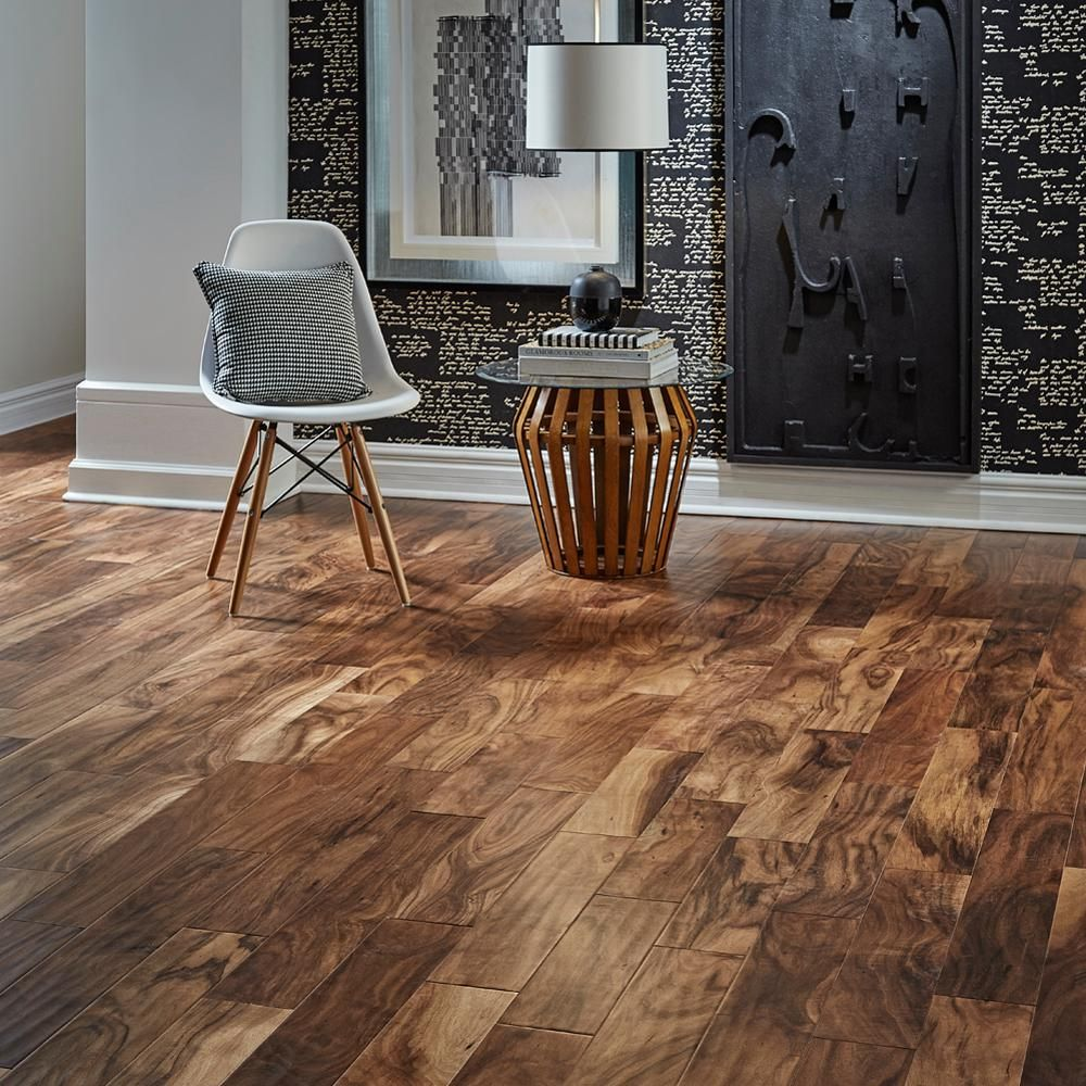 home legend hand scraped natural acacia in w x varying length click lock exotic hardwood flooring sqftu0026 the home depot - Home Legend Flooring