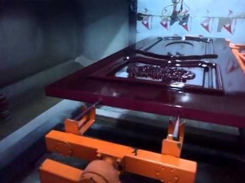 WD 5000 automatic spraying painting machine for door - YouTube
