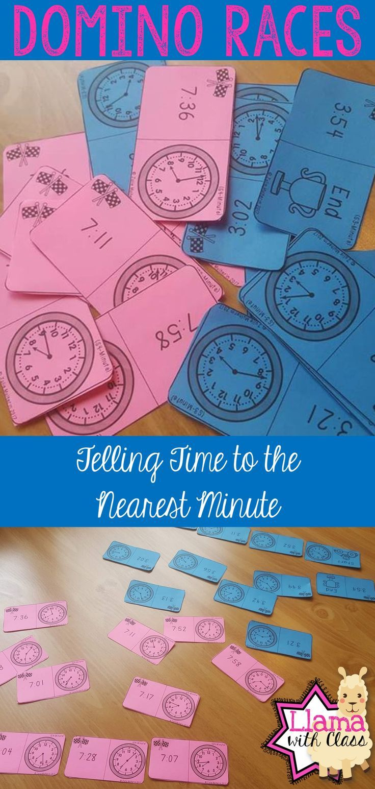 Time to the Minute Domino Races | Students, Math and Teacher pay ...