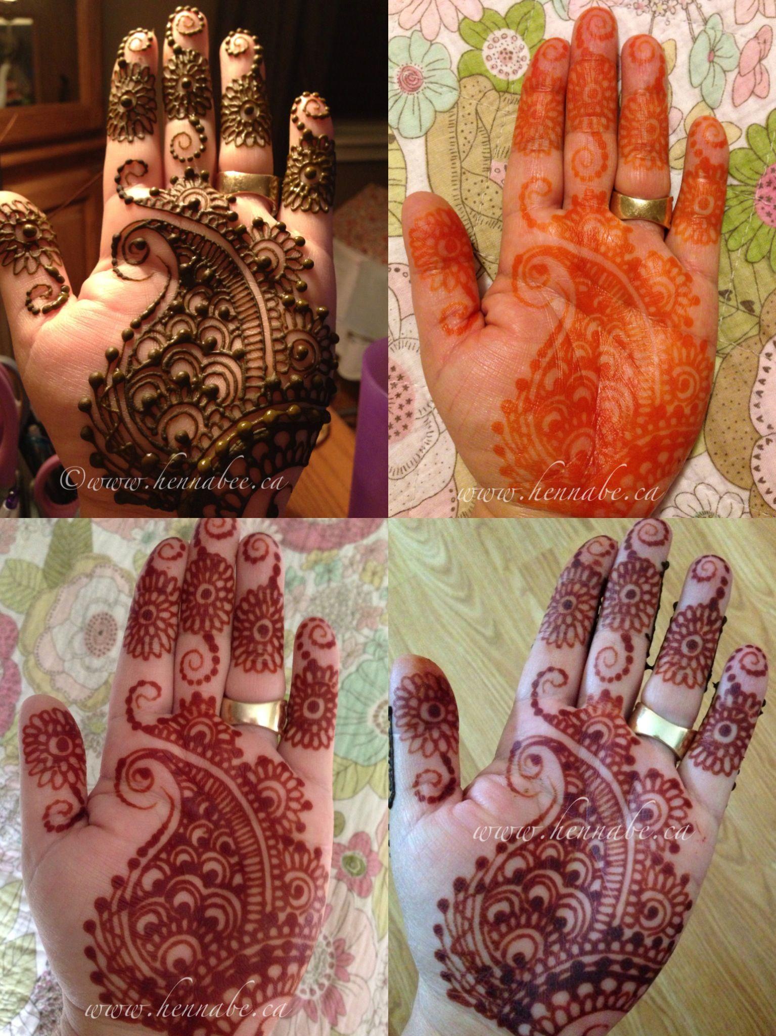 henna tattoo process