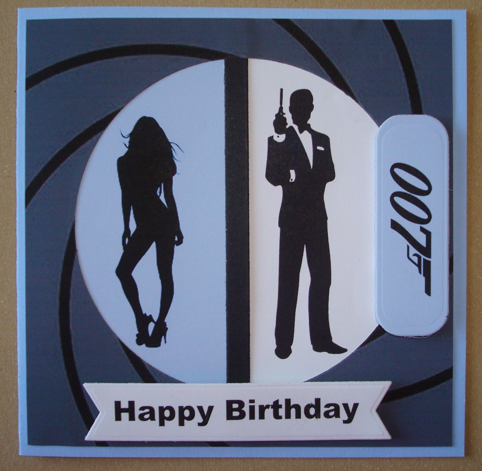 hand made male birthday card james bond theme cards. Black Bedroom Furniture Sets. Home Design Ideas