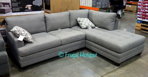 True Innovations Fabric Sofa Chaise Costco Frugalhotspot