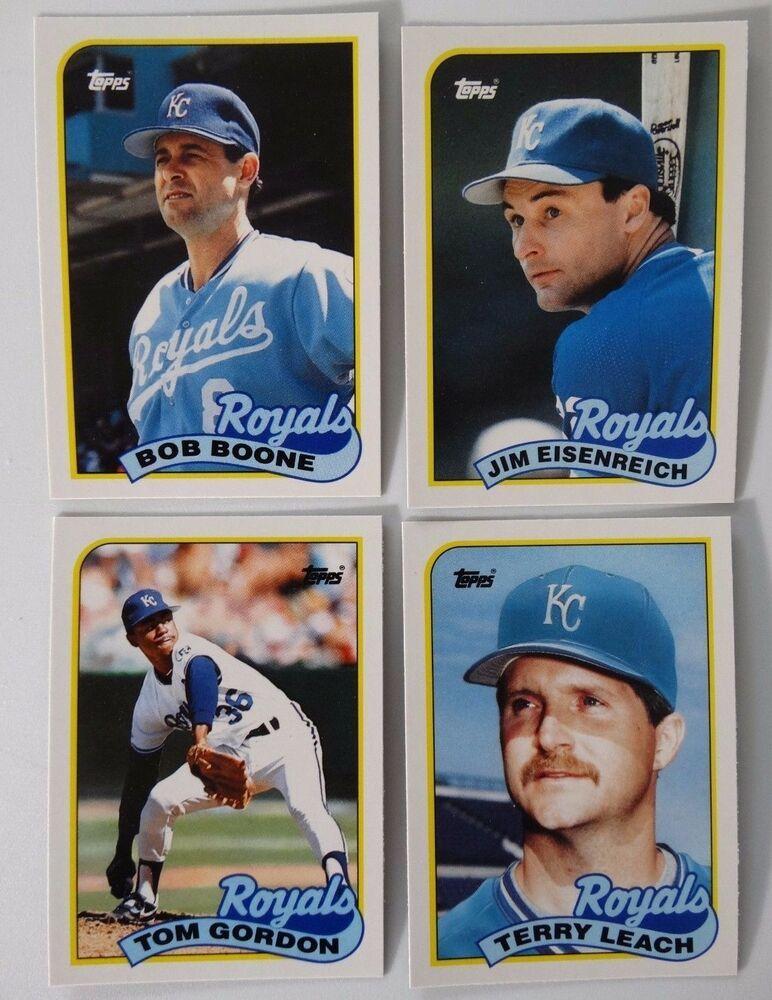 1989 topps traded kansas city royals team set of 4