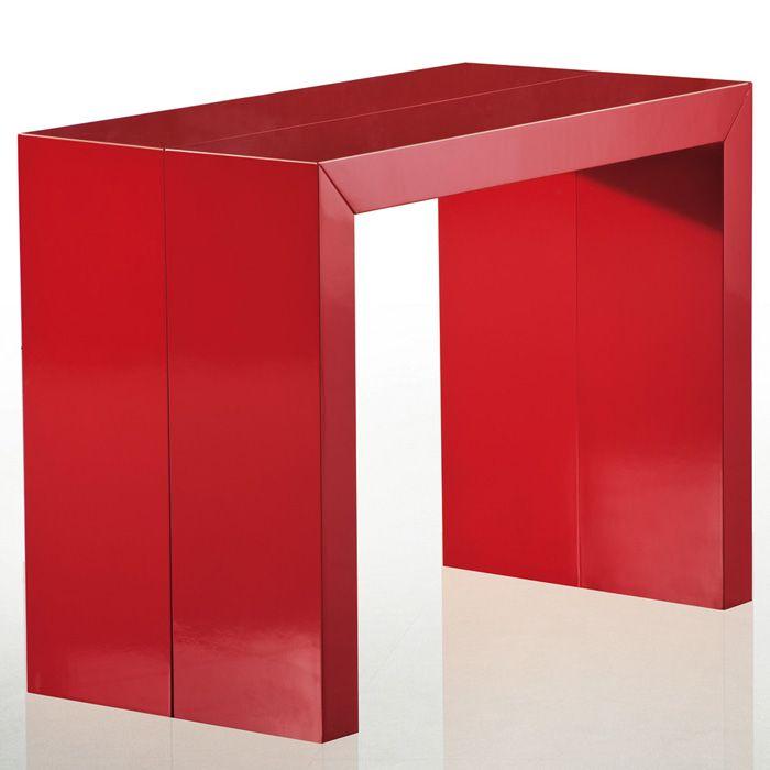 Rouge À Extensible Manger Stardust Table Console LaquéSalle srdtQhCx