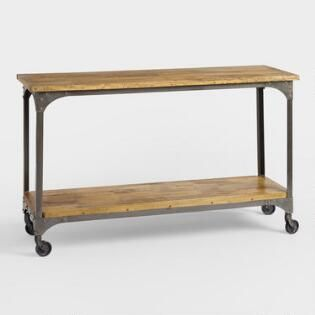 Wood And Metal Aiden Console Table Small Console Tables
