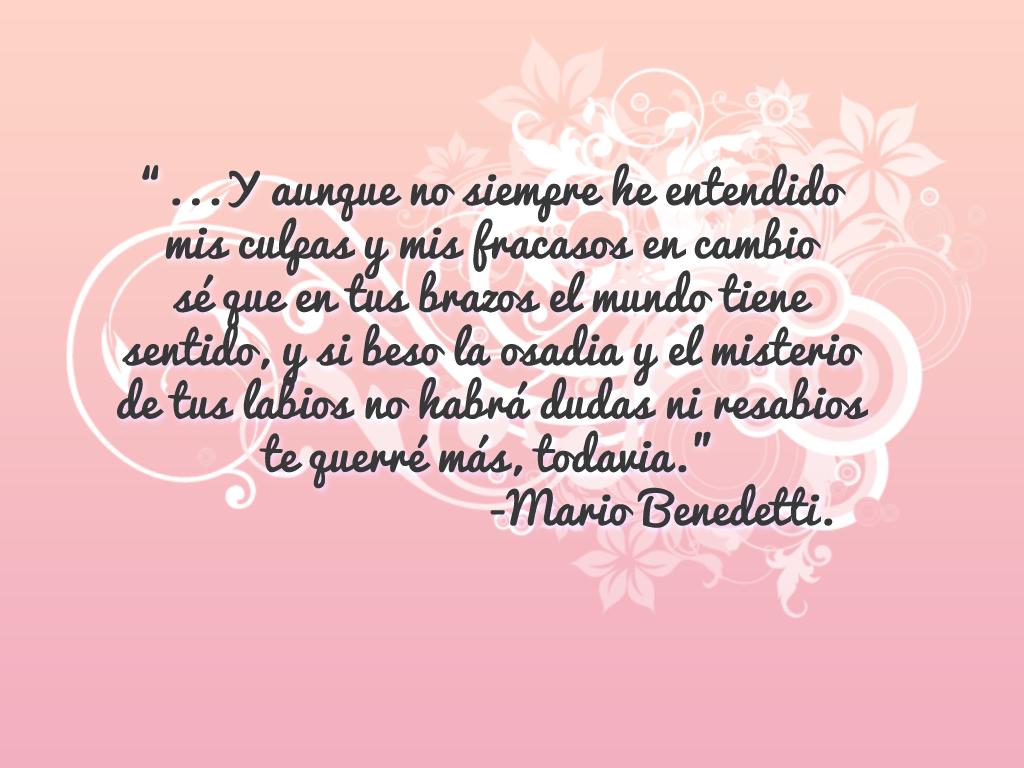 Un poco de poesa Mario Benedetti