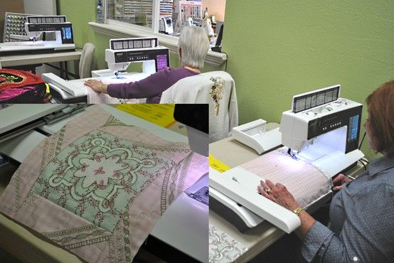 We had a special event here at The Sewing Cafe led by Pfaff's Karla Herrin. Usin...