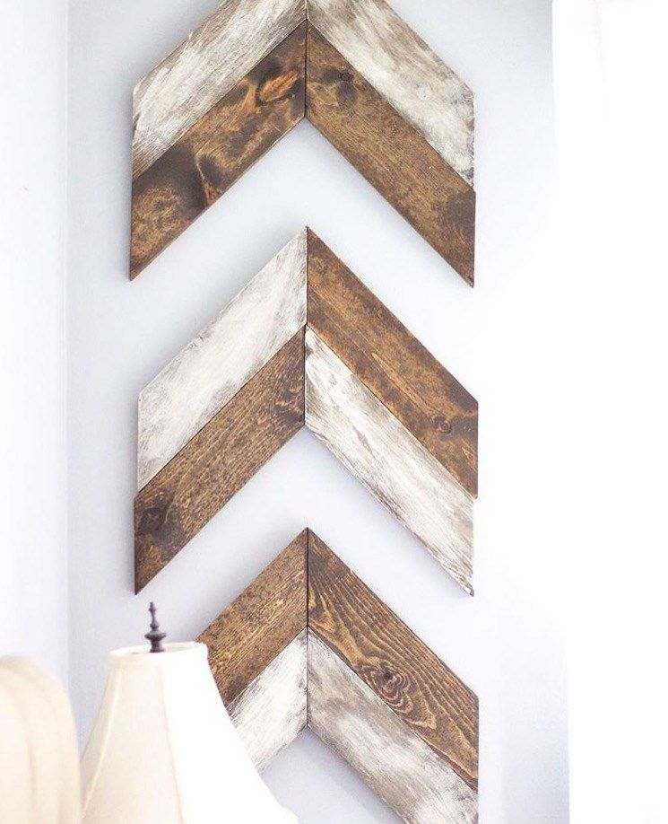 Diy Chevron Wooden Arrows Painting Distressing Diy Wall