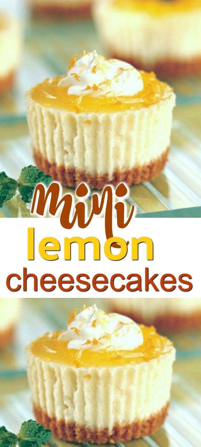 Mini Lemon Cheesecakes Easy Mini Lemon Cheesecakes with a graham cracker crust. These are the best