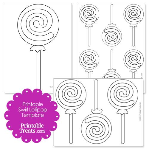 Printable Swirl Lollipop Template With Images Lollipop Craft