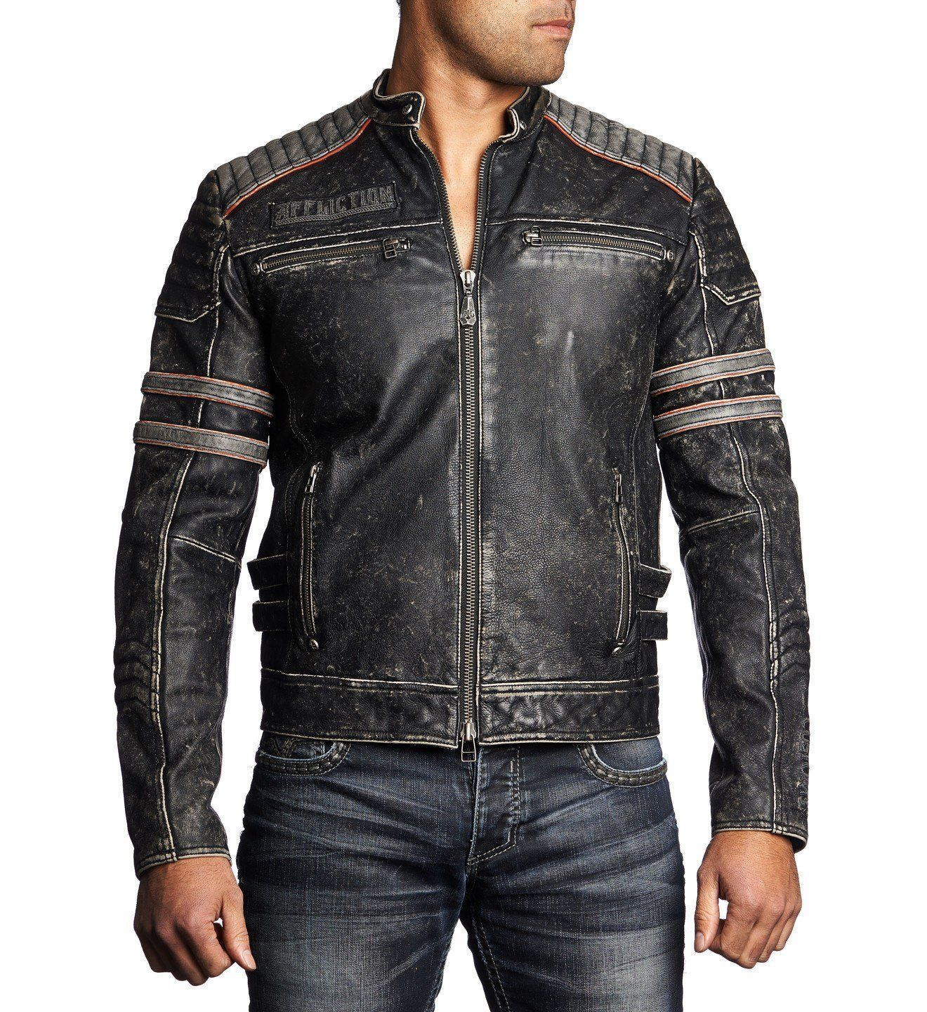 Fast Lane Mens Jackets Affliction Clothing Mens