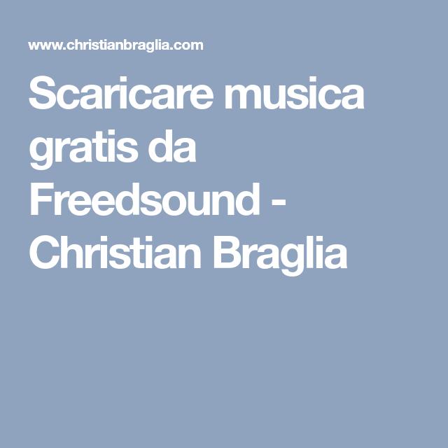 scaricare musica gratis da freedsound