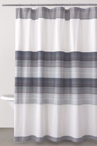 DKNY Felt Stitch Fabric Shower Curtain