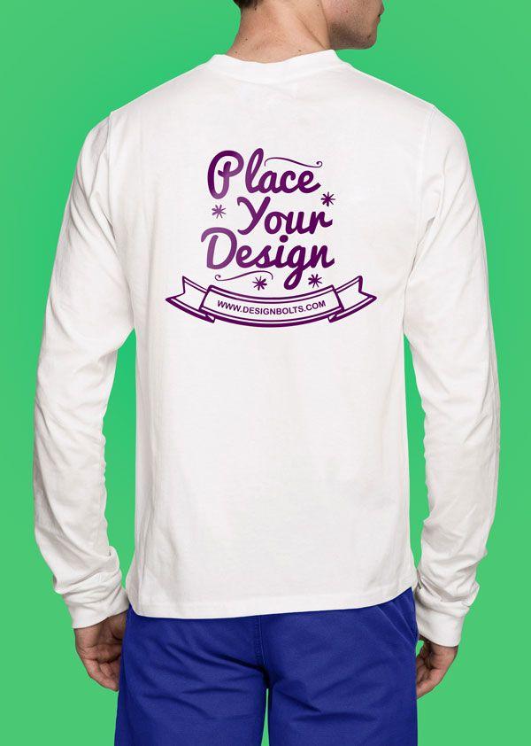 Download Free White Long Sleeves T Shirt Mock Up Photoshop Psd File Front Backside Shirt Mockup T Shirt Tshirt Mockup