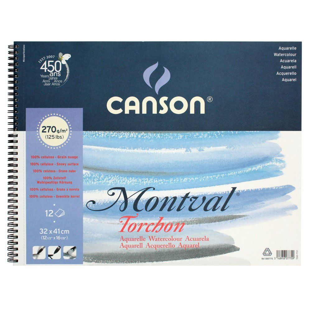 Kyanson Monbaru Watercolor Paper Torushon 320 410mm Rough First