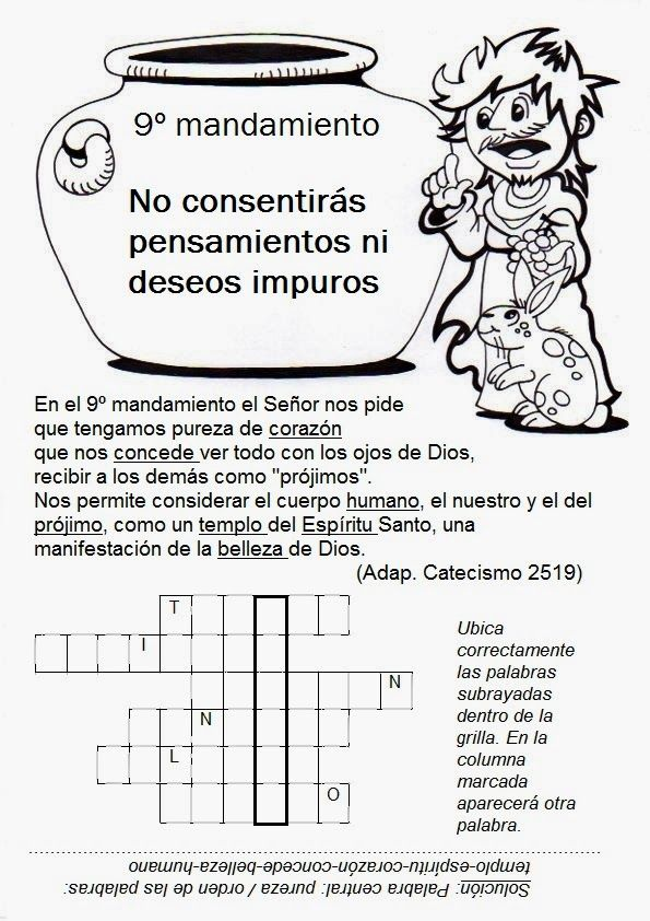 El Rincon De Las Melli Los Mandamientos Dibujos Para Catequistas