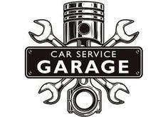 Mechanic Logo 3 Piston Wrench Crossed Engine Car Auto Motorcycle Biker Bike Garage Repair Service S Logotipo Automotivo Loja De Motos Adesivos Para Carros