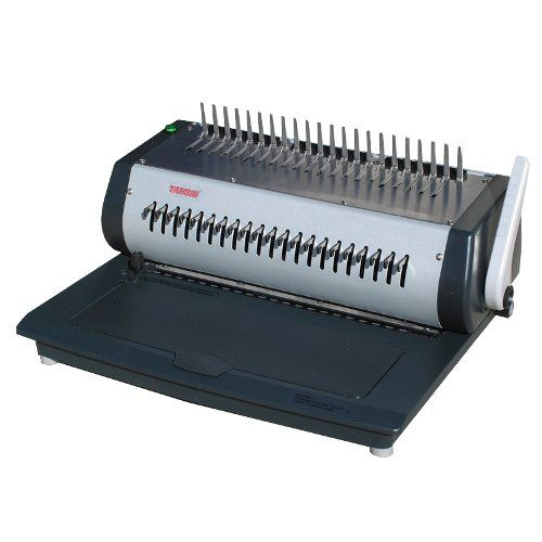 Tamerica S All New Tcc2100e Electric Punch And Bind Machine Offers An All Metal Durable And Easy To Use Machine For Around Binding Machines Plastic Electricity