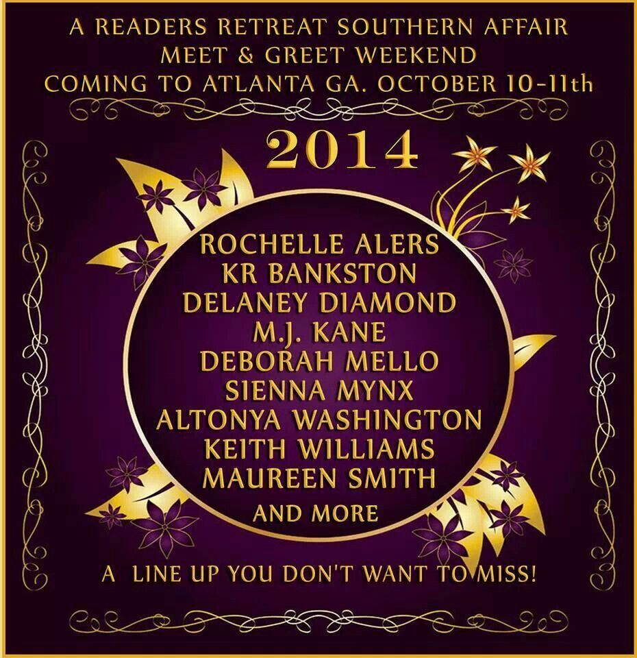 I'm excited to be included in this line-up. See you in Atlanta! ;)