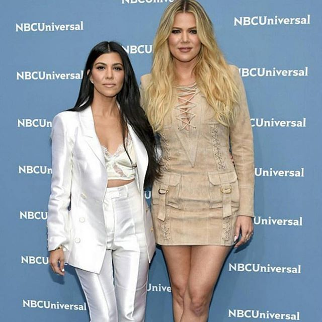 You both look so beautiful, @kourtneykardash @khloekardashian!!! #NBCUpfronts2016 #proudmama #mybeauties #family #love