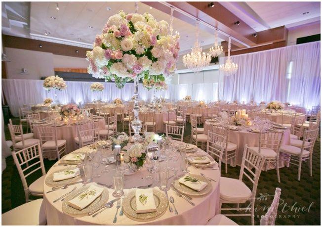 Event Spotlight A Romantic Pink And Ivory Wedding Linen Rentals Wedding Table Linen Runners Chair Covers Bbj Linen Wedding Table Linens Wedding Linen Rental Wedding Table