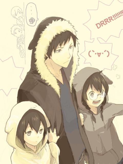 Izaya, Mairu & Kururi Orihara :D