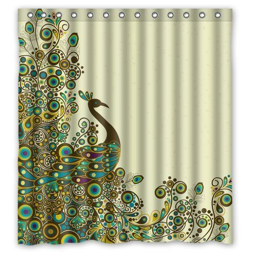 Fashion Custom Beautiful Peacock Pattern Waterproof Polyester Fabric Shower Curtain 66 x 72 Shower Curtain http://smile.amazon.com/dp/B00L7U5Z2K/ref=cm_sw_r_pi_dp_KMu6ub14B593E