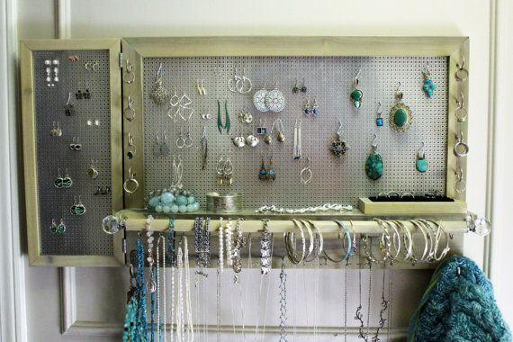 Beautiful You Get To Pick Jewelry Organizer with by TheKnottyShelf