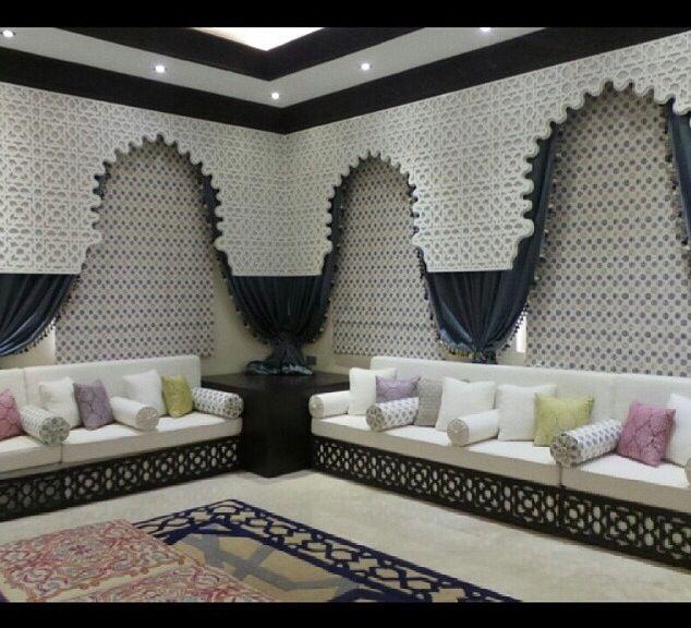 جلسه مغربيه   meuble   Deco salon marocain, Décoration ...