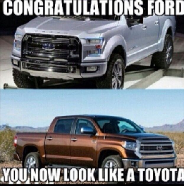 Ford Looks Like A Toyota With Images Ford Humor Ford Jokes