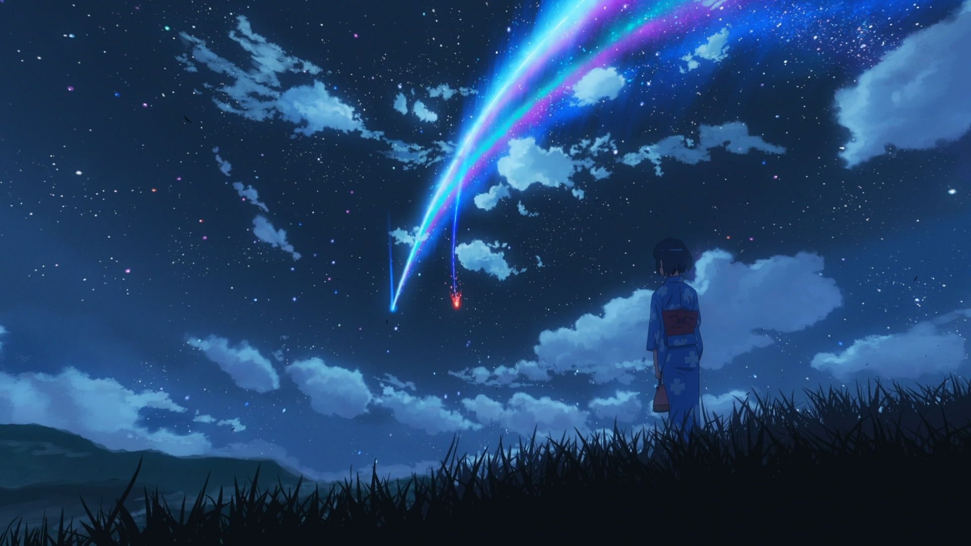 Your Name anime movie scene Kimi no Na Wa Makoto Shinkai