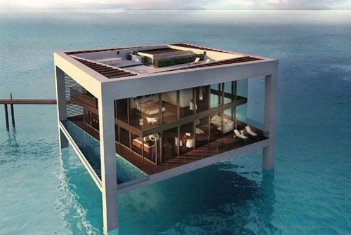 House in water, Dubai.