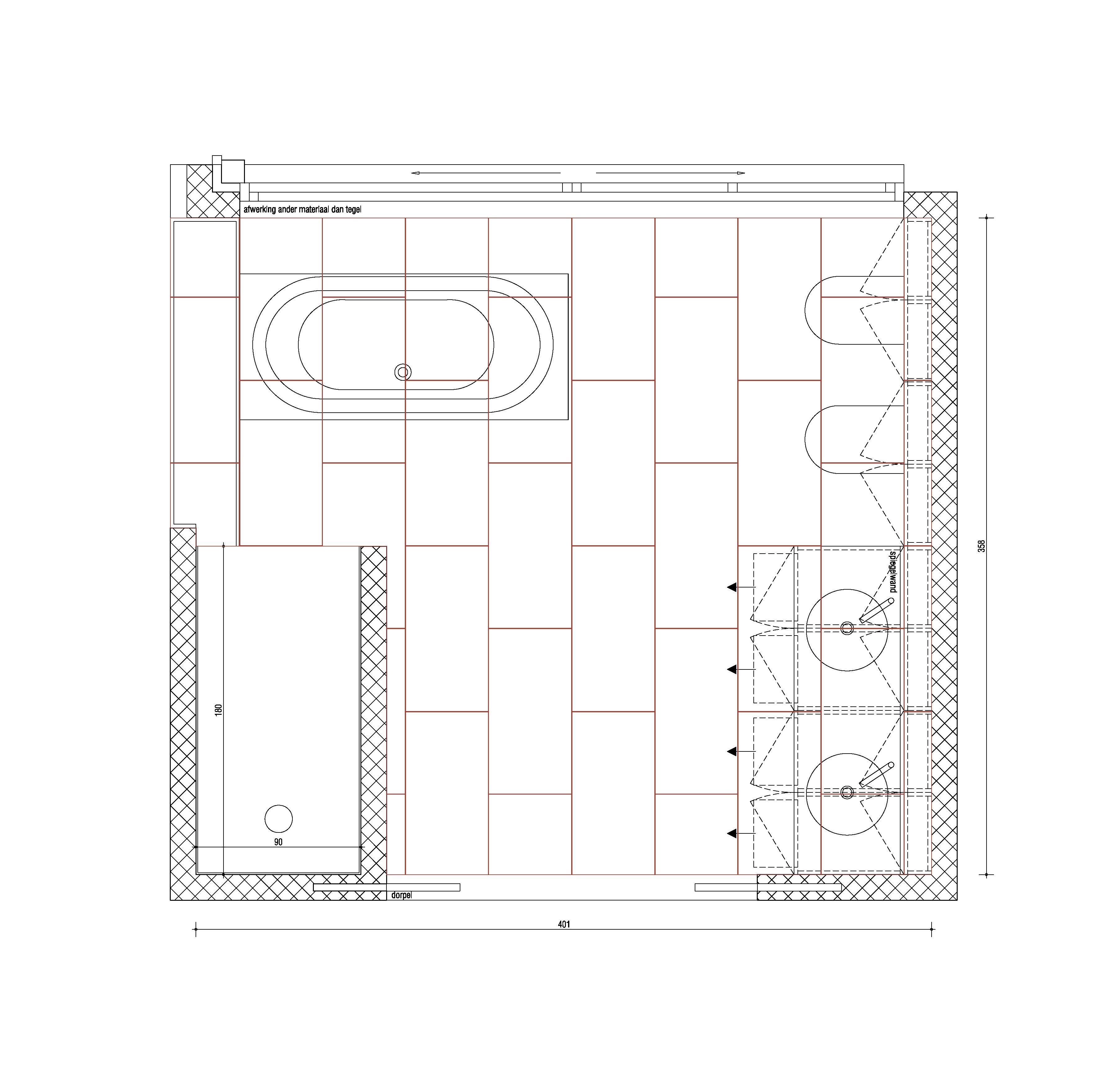 tegelplan vloer badkamer 1220laur stam 1220laur nieuwbouw