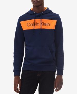 e3664f02 Calvin Klein Men's Colorblocked Logo-Print Hoodie - Blue XS ...