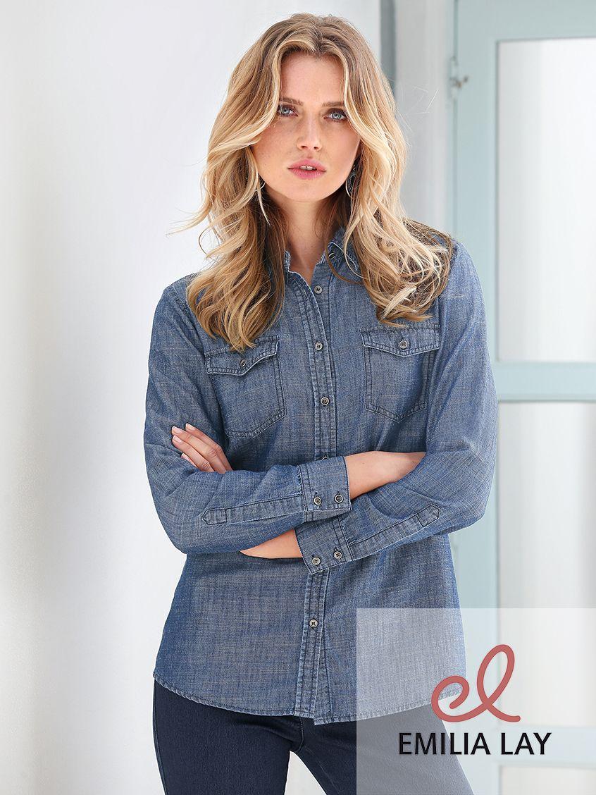 Jeans-Bluse von Peter Hahn: der beliebte Klassiker für den ...