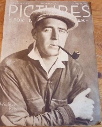 From 1921 nice UK  cover of Wallace Reid, article on his career