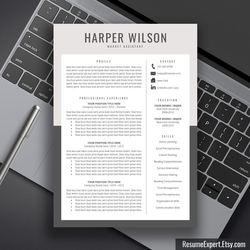 Modern Resume Design Welcome To The Resumeexpertetsy We Provide #highquality And