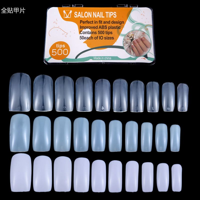 500tips Nail art supplies wholesale Long Design Full Cover False ...