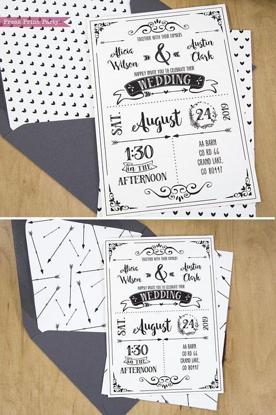Wedding invitation template invitation suite set with pocket rsvp wedding invitation template invitation suite set with pocket rsvp cards details cards junglespirit Images