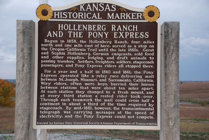 28  HOLLENBERG RANCH AND THE PONY EXPRESS Begun in 1858, the