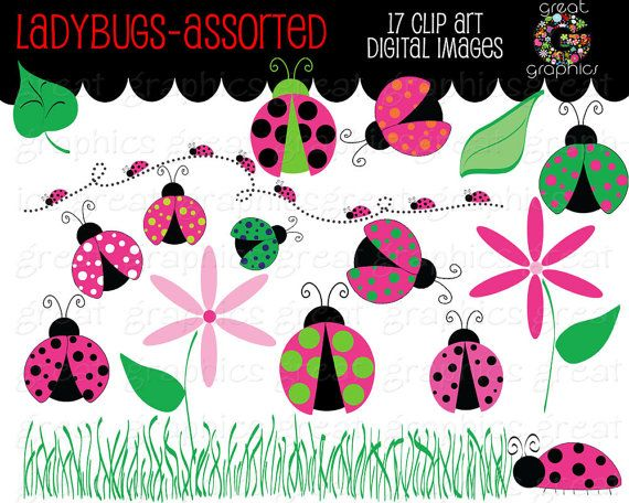 Ladybug Clipart, Pink Ladybug Clipart, Ladybug Clip Art, Ladybug - free invitation clipart