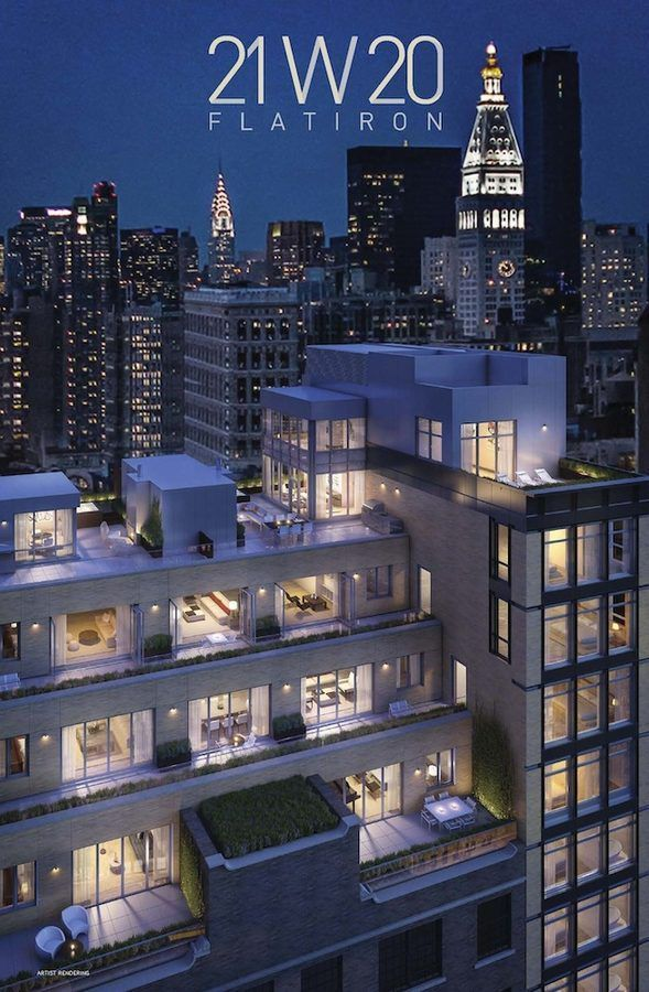 21 West 20th Street's Triplex Penthouse Will Cost 35