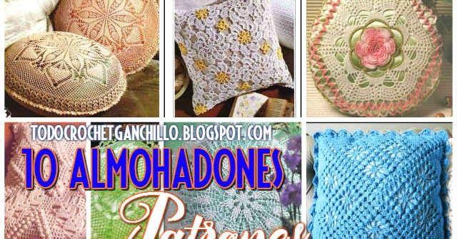 Los 10 mejores almohadones crochet / Patrones | Patrones para tejer ...