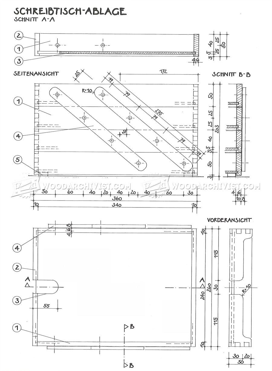 158 Wooden Desk Tray Plans Woodworking Pinterest Schematic
