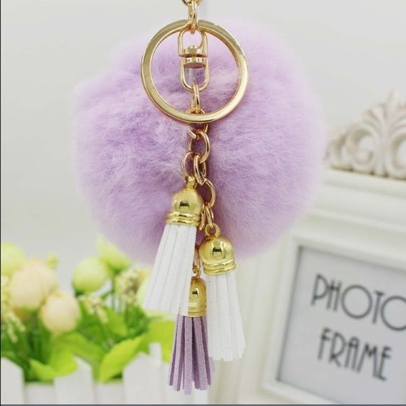 LAST ONE PomPom/Fur Ball & Tassel Straps This Gorgeous PomPom will give a fantastic look to your bag or keys. FAUX Fur - Extremely Soft to Touch Boutique Bags