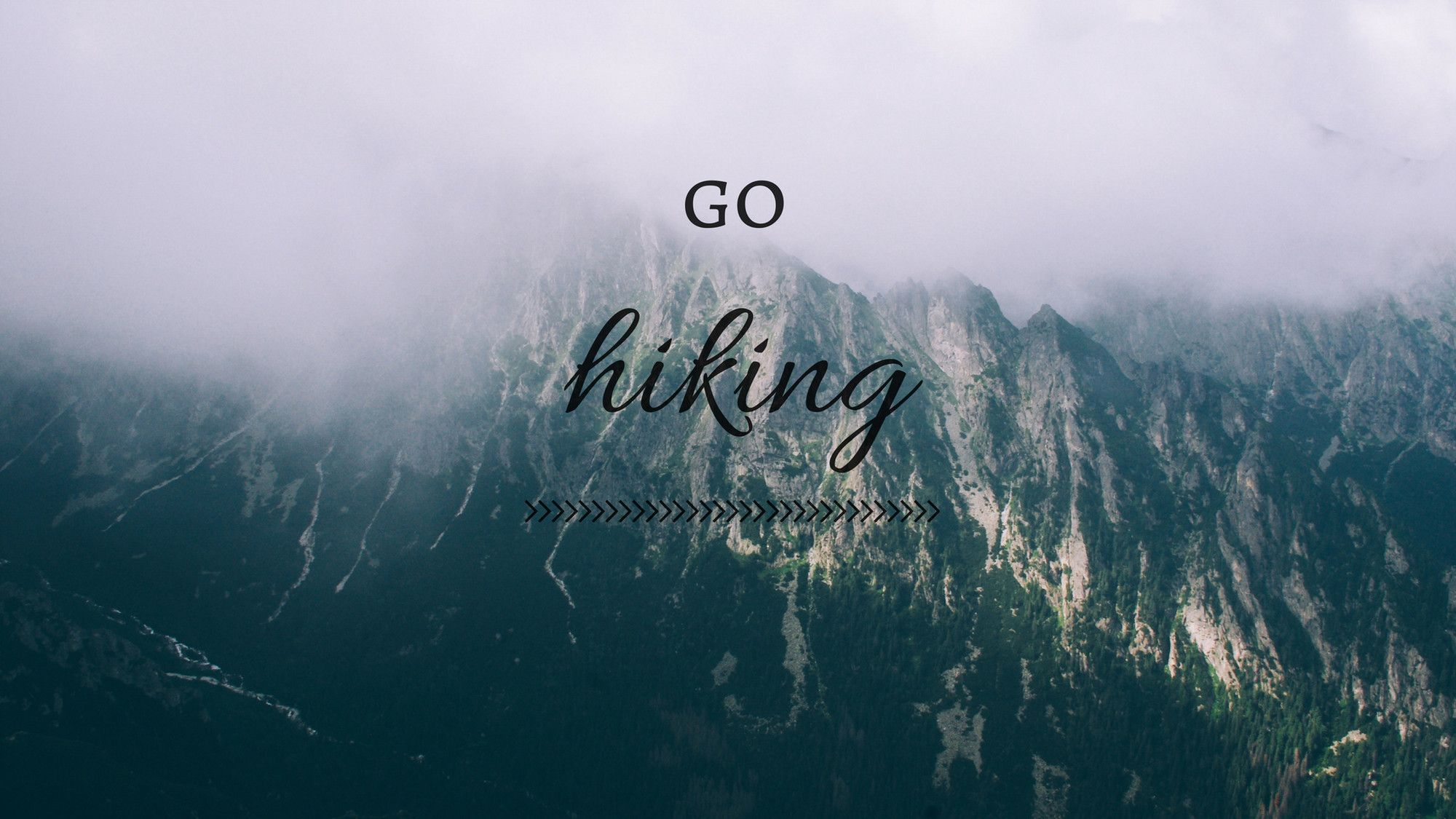 go hiking mountains wallpaper desktop background